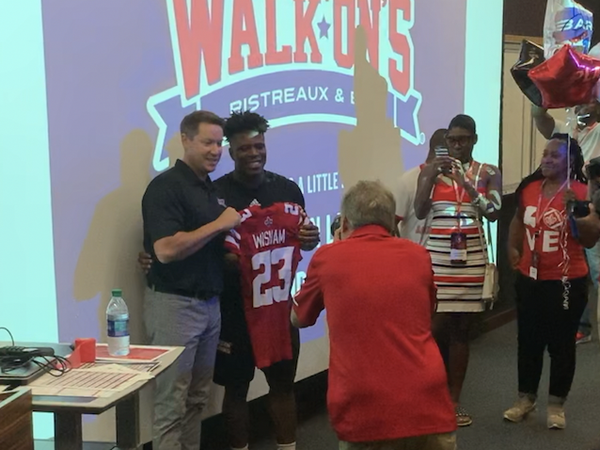 Brandon Landry presents Walk-On Scholarship